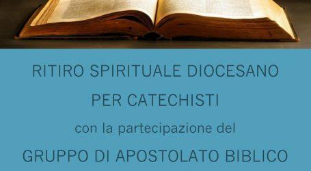Ritiro spirituale per i catechisti della Diocesi
