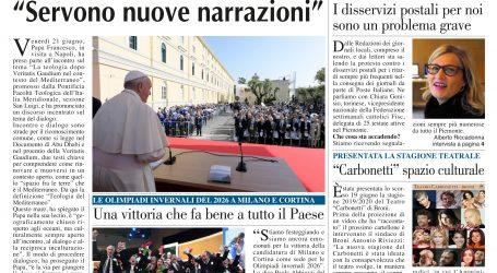prima pagina 27 giugno