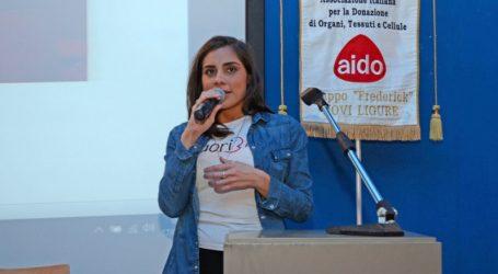 """La """"ragazza dei tre cuori"""" a Novi Ligure per l'AIDO"""
