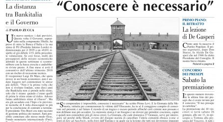 prima pagina 24 gennaio