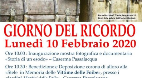 """""""Giorno del ricordo"""": la cerimonia e la mostra a Tortona"""