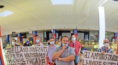 I dipendenti del CIT protestano