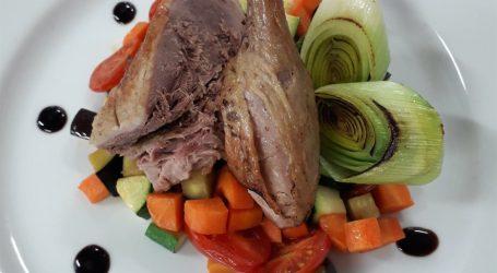 Anatra arrosto con verdure