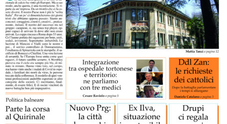 Prima pagina 15 luglio